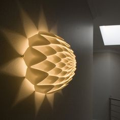3D Printed Light Shade - Imagine printing up custom lighting at home ...