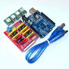 Kit Cnc - Cnc Shield V3 + Arduino Uno R3 + 4x A4988 - Grbl
