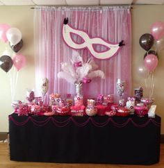 sweet 16 party ideas via Pinterest. Masquerade party decorations ...