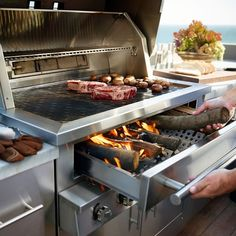 The Kalamazoo Hybrid Fire Grill: The Ultimate Grill - Küche Fire Grill, Bbq Grill, Grilling, Outdoor Kitchen Patio, Outdoor Kitchen Design, Cooking With Charcoal, Bbq Area, Restaurant Kitchen, Kitchen Storage