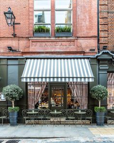 Outdoor Awnings, Window Awnings, Restaurant Door, Fabric Awning, Interior Design Programs, Luxury Vinyl Plank, Covent Garden, Rooftop Bar, Facade Design