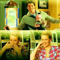 Nathan and Lydia singing to Haley! So cute!!