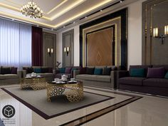 Mjles Regal on Behance House Ceiling Design, Ceiling Design Living Room, Bedroom False Ceiling Design, Floor Design, Living Room Designs, Design Bedroom, Feng Shui, Hall Interior Design, Luxury Flooring