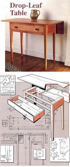 Drop-Leaf Table Plans - Furniture Plans and Projects | WoodArchivist.com
