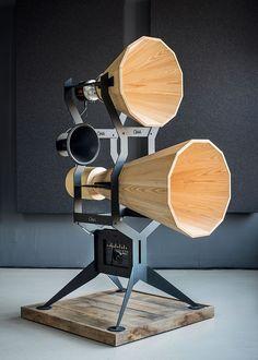"designbinge: "" OMA Audio recapture another vintage aesthetic in its new Imperia Horn Series. "" @blackhawk79"