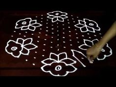 rangoli designs with dots 15 8 Simple Rangoli Designs Images, Rangoli Designs With Dots, Rangoli With Dots, Beautiful Rangoli Designs, Kolam Designs, Lotus Rangoli, Kolam Rangoli, Flower Rangoli, Easy Rangoli