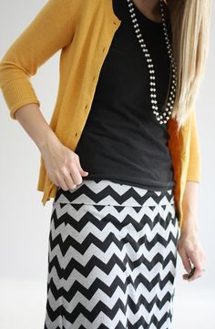 Women's Chevron Maxi Skirt...Could be maternity, comes in very large waist sizes and 40 in length!!!