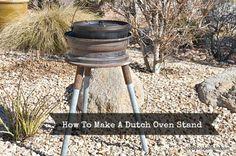 How To Make a Dutch Oven Stand www.foodstoragemoms.com