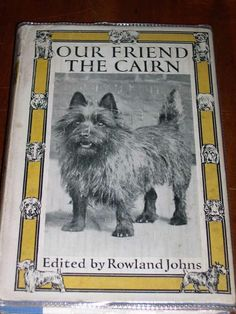 """RARE DOG BOOK BY JOHNS 1ST 1932 """"OUR FRIEND THE CAIRN TERRIER"""" IN DUST WRAPPER"""