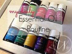 A daily essential oil routine .. so many great ideas and uses for the premium starter kit.