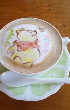Pooh Bear Latte Art→follow← my board ♡ͦ* ¢σffєє σвѕєѕѕє∂ ♡ͦ* @ ★☆Danielle ✶ Beasy☆★