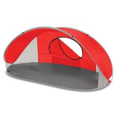 The Picnic Time Manta Sun Shelter is portable and compact. Designed to set up in seconds. This open-front tent can be used wherever you might need protection against the sun or wind and has a UPF 50+ rating.