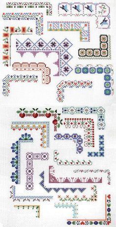 Punto De Cruz Counted Cross Stitch Design: Bountiful Borders - Crafting For Holidays Cross Stitch Boarders, Counted Cross Stitch Patterns, Cross Stitch Designs, Cross Stitching, Cross Stitch Embroidery, Embroidery Patterns, Hand Embroidery, Cross Stitch Flowers Pattern, Free Cross Stitch Charts