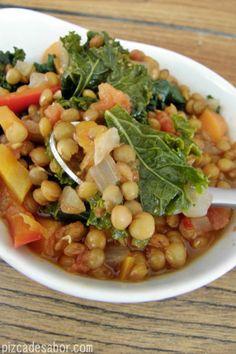 Lentejas con coles / berza  #Nutrición y #Salud YG > nutricionysaludyg.com