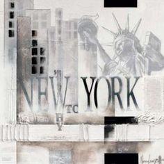 New York Why WTC Canvas Art - Marie-Louise Oudkerk (24 x 24)