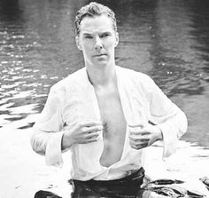 He even went so far as to get into a lake and show you a hint of chest hair. | 19 Times Benedict Cumberbatch Has Never Let You Down