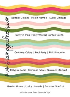 Five on Friday: Spring Color Combos! - Stampin' Up! Independent ...
