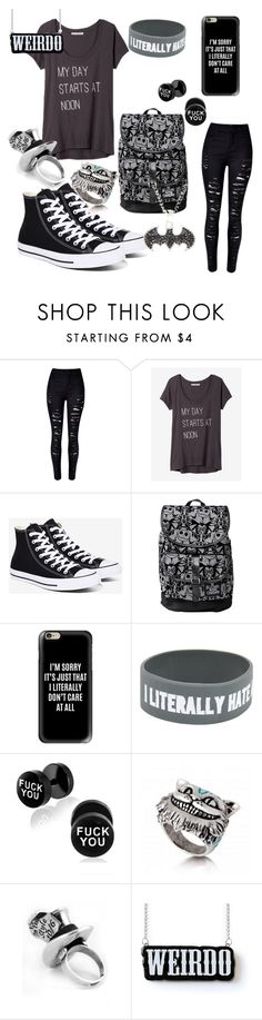 """ME"" by kcox554 ❤ liked on Polyvore featuring WithChic, Express, Converse and Casetify"