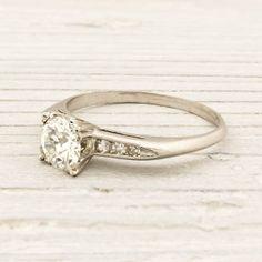 Image of .74 Carat Old European Cut Diamond Engagement Ring
