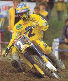 Michele Rinaldi cam. del mundo 125 cc. 1984 Suzuki