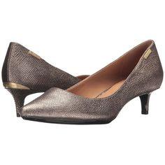 f95173a99d3 Calvin Klein Gabrianna (Gold Foiled Lizard) Women s 1-2 inch heel.