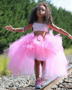 Color-block Hi/Low Tutu Choose from any 2 colors we carry. Specify color preferences (top and bottom) in notes 5th Birthday Girls, Birthday Wishes Girl, Birthday Girl T Shirt, Birthday Girl Pictures, Bday Girl, Barbie Theme Party, Barbie Birthday Party, Ballerina Birthday Parties, Birthday Party Outfits