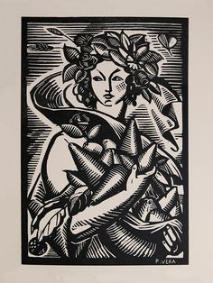 "P. Vera - ""Pomone"" - Woodcut by Thomas Shahan 3, via Flickr"