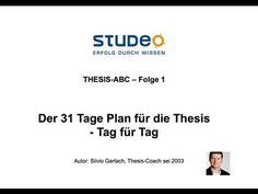 ▶ THESIS ABC Folge 1: Der 31 Tage Plan - Tag für Tag - YouTube
