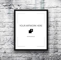 Vertical Black Frame Mockup in 7 sizes....