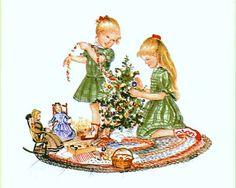 "Tasha Tudor, illustration for ""The Dolls' Christmas"""