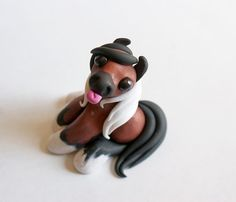Horse Miniature Figurine Little Polymer Clay by TumbleCreatures
