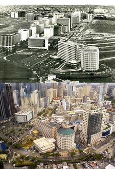 Filipino Architecture, Philippine Architecture, Philippines Culture, Manila Philippines, Retro Pictures, Retro Pics, Philippine Art, Then And Now Photos, Makati City