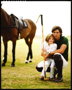 Nacho and his daughter on the polo field... once bitten by the horse bug, little girls are forever smitten!