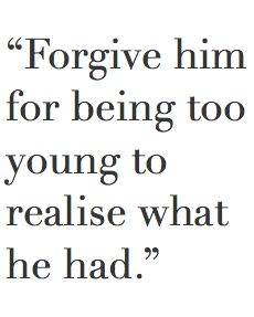 Forgive and forget #2015