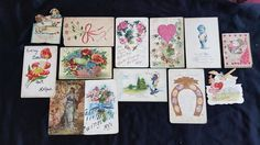 33 vintage Valentine, birthday, post cards early 1900's