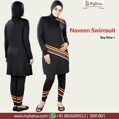 642059151b Naveen Swimsuit - Designer skin friendly and comfy swimsuit with  multicoloured strips from MyBatua. #