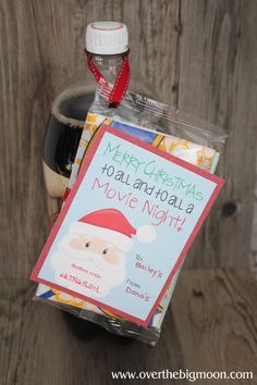 This is a WONDERFUL neighbor gift Idea -- giving promo Red Box codes and a bag of microwave popcorn.
