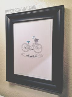 """IROCKSOWHAT: Free """"Ride With Me"""" Bicycle Printable"""