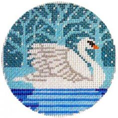Swan ornament, by Shelly Tribbey