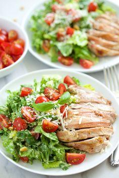 Creamy Basil Chicken Caesar Salad | GI 365