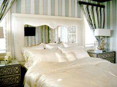 Rustic And Beauty Mirrored Headboard Bedroom Set