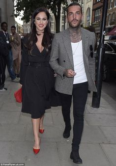 Coordinated: Reality stars Vicky Pattison and Pete Wicks were perfectly coordinated on the. Modern Outfits, Urban Outfits, Suit Fashion, Mens Fashion, David Beckham Style, Simple Street Style, Clubbing Outfits, Winter Outfits Men, Stylish Couple