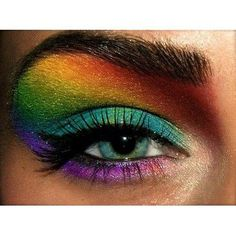 rainbow eyes, i used to do this in high school!