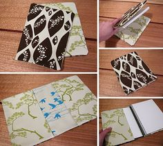 Tute for reversible journal cover.  Great for composition books when I use them for dayplanners.