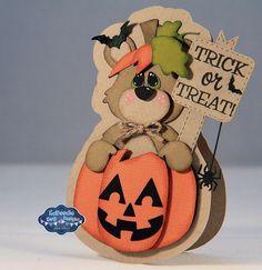 Snappy Scraps: Happy Halloween Bear-KaDoodle bug