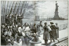 Italian Immigrants Arriving at Ellis Island, my great-grandparents came through, I can't imagine their journey.