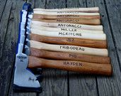 Personalized Axe - Engraved Hatchet - Fathers Day Gift -Firefighter Gift- Best Man Gift- Hand engraved custom designed Groomsmen Gifts