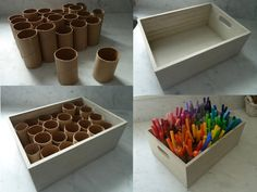 Diy And Crafts, Crafts For Kids, Arts And Crafts, Fall Crafts, Rangement Art, Paint Organization, Organization Ideas, Art Studio Organization, Board Game Organization