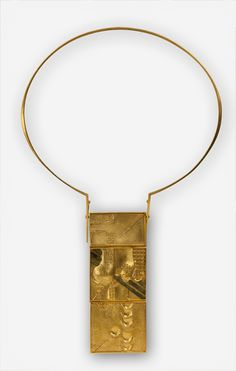 Jens Rüdiger, Neckpiece vintage1970's. Gold, gemstones.