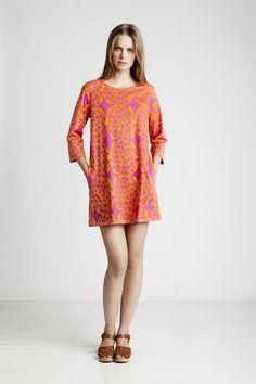 Pink and orange dress from Marimekko.